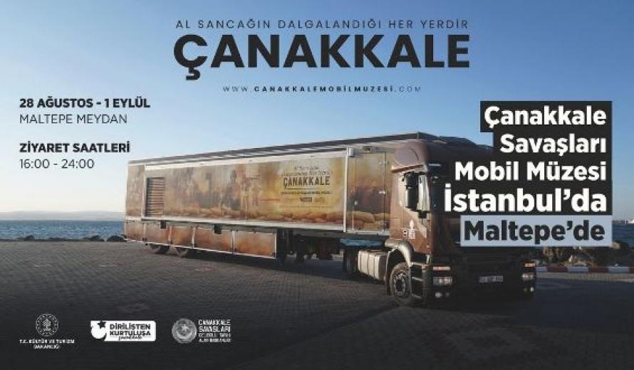 Çanakkale Savaşları Mobil Müze Tırına Maltepe'de Büyük İlgi