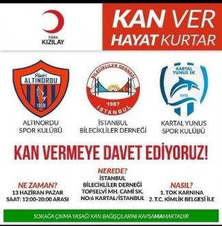 Kan bağışı organizasyonu ile Kızılay'a tam destek verdiler