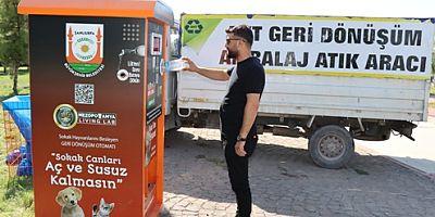 """Şanlıurfa Büyükşehir Belediyesi'nden minik dostlara """"Mamamatik"""" otomatları"""
